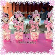 marshmallows centerpieces baby minnie mouse decoration