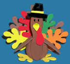 foam turkey craft thanksgiving crafts for kids
