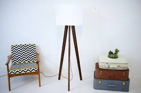 Midcentury Modern Floor Lamp - tripod floor lamp midcentury modern inspired walnut tripod