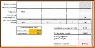 Gas Mileage Spreadsheet 4 Mileage Tracker Form Printable Receipt