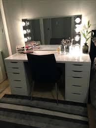 Diy Makeup Vanity With Lights Vanities Diy Hollywood Vanity Mirror Ikea Vanity Mirror Ikea