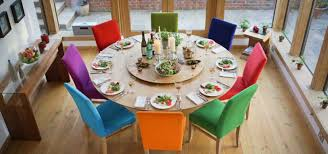 home design wonderful round dining room table with lazy susan