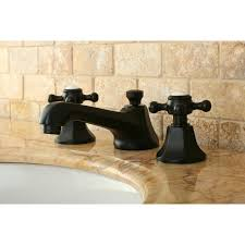 oil rubbed bronze widespread bathroom faucet kingston brass ks4465bx metropolitan widespread lavatory faucet