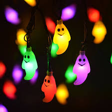 Halloween Decorations Outdoor by 30 Led Solar String Lights Halloween Light Outdoor Ghost Lights