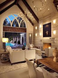 vaulted ceiling living room paint color white fireplace mantel