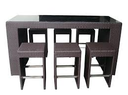 kitchen high top kitchen table and 4 roundhill furniture glass