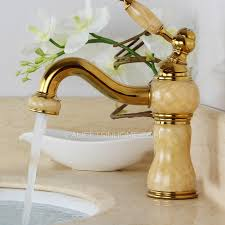 Artistic Brass Faucet Company Antique Polished Brass One Hole Bathroom Sink Faucet