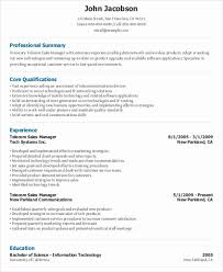 Telecom Sales Executive Resume Sample by 44 Sales Resume Design Free U0026 Premium Templates