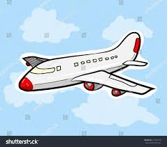 airplane hand drawn vector illustration airplane stock vector