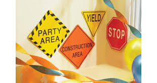 construction party supplies construction 7 traffic signs birthdayexpress