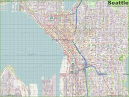 Atlanta Street Map Seattle Maps Washington U S Maps Of Seattle