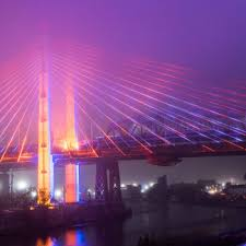 check out the light show for the new kosciuszko bridge gothamist