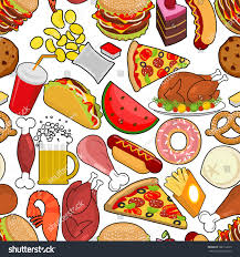 food seamless pattern feed ornament stock vector 508112623
