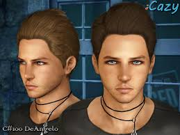 sims 3 men custom content cazy s deangelo hairstyle set