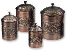 canister sets kitchen copper kitchen canister sets ebay