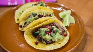 pomegranate pork tacos with guacamole and queso fresco today com