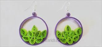 handmade paper earrings diy paper earrings how to make quilled hoop earrings by ananvita