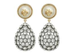 Tory Burch Wallpaper by Tory Burch Diamond Earrings Rhinestone Gold Stud Tory Burch