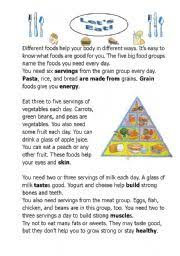 english worksheet let s ea a reading comprehension about health