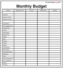 Monthly Budget Excel Spreadsheet Household Monthly Budget Planner Worksheet Printable Template Excel