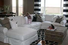 White Slipcovered Sofa white slipcovered sectional our family room pinterest room
