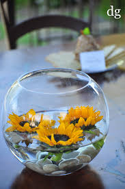 cheap centerpiece ideas easy inexpensive centerpiece floating sunflowers 12 50