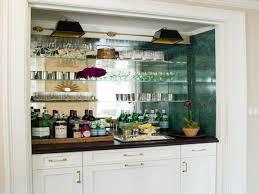 kitchen mirrored bar backsplash mirrored backsplash transitional