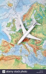 A Map Of Europe Airplane On A Map Of Europe Flugzeug Auf Einer Karte Von Europa