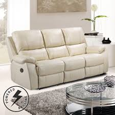 ivory leather reclining sofa cameo ivory cream leather power electric recliner sofa collection