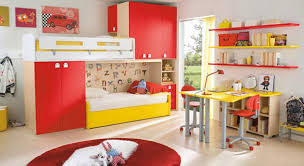 Wall Bookshelves For Kids Room by Bedroom Charming Ideas For Decorating Kids Rooms With Red Furry