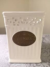 thl kitchen canisters thl classic white shabby chic utensils kitchen canister