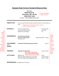 examples for objective on resume example of resume for high school student resume examples and example of resume for high school student high school student resume samples with no work experience