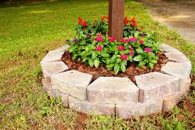 easy flower beds simple but cute mailbox flower bed outdoors