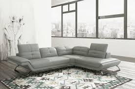 canapé d angle en 100 tout cuir italien 5 places moderni gris
