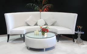 round sofa white high back slipper sofa town country event rentals
