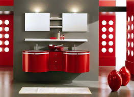 bathroom amazing red bathroom ideas using oval white bathtub