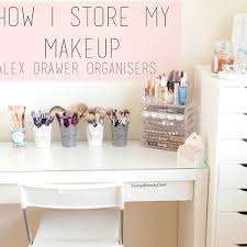 Makeup Vanity Storage Ideas Makeup Storage Ikea Alex Drawers And Malm Dressing Table