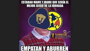 Memes De Pumas Vs America - pumas y am礬rica son v祗ctimas de memes tras empatar sin goles