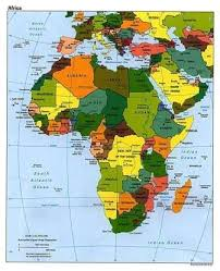 africa map color geography for countries and the continent of africa