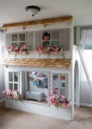 Doll House Bunk Bed Custom Handcrafted Dollhouse Loft Bed Your Own Colors