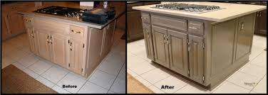 staining kitchen cabinets darker before and after monsterlune