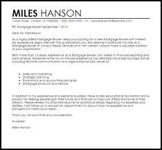 mortgage consultant cover letter