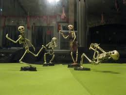 halloween trophies putting movement into skeletons and mini