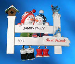 friend ornaments free personalization