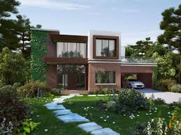 home garage design beautiful house with garden and car