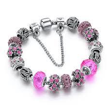 diy glass bead bracelet images European crystal charm bracelets star fashion accessories jpg