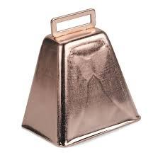 darice metal cow bell 3 inch 1 pkg copper amazon co uk kitchen