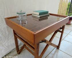 remodelaholic create a table from an old chair and a cassette