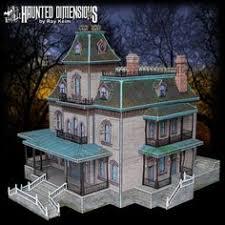 create your own mansion phantom manor paper models paper dioramas vintage pinterest