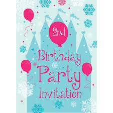 2nd Birthday Invitation Card 2nd Birthday Party Supplies Woodies Party